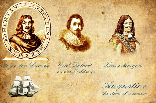 Augustin Herman, Lord Calvert, Henry Morgan